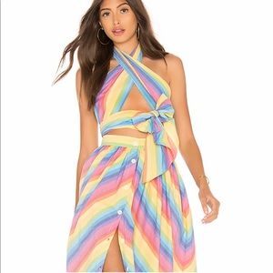 MDS Stripes Skirts - MDS stripes scarf top and skirt